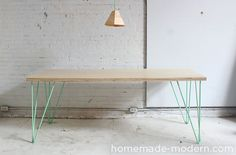 HomeMade Modern DIY The Easy DIY Table Options- use similar instructions for a bench by front door