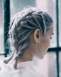 Image Result For 2 French Braids In Short Hair French Braid Short Hair Hair Styles Braids For Short Hair