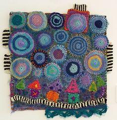 FRANKIE LEMONDE MEUNIER crochet wall art, Ontario, Canada