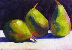 Still Life Oil Painting Original Fruit Art by smallimpressions, $50.00