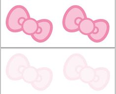 Free printables - Hello Kitty bows, invitations, and heads
