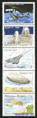 3916/20 - Lucht- en ruimtevaart - Blériot/De Winne samenhangend - €6,75 : Bordink35, Postzegelhandel Abelshausen