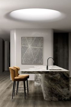 The Project designed by acclaimed studio Rob Mills Architecture will be finished in It is characterized by its elegant curves. Home Interior, Kitchen Interior, Interior Architecture, Interior Decorating, Home Decor Kitchen, Kitchen Design, Layout Design, Diy Design, Plafond Design