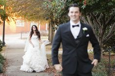 First look photo at timeless blush Knoxville wedding, photographed by Ergen Photography | The Pink Bride www.thepinkbride.com