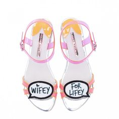 Pin for Later: The Ultimate Guide to Flat Wedding Shoes Sophia Webster Wifey For Lifey Bridal Shoes Sophia Webster Wifey For Lifey Speech Bubble Bridal Shoes (£295)