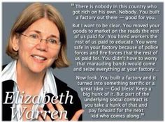 I'm re-re-tweeting this comment by Elizabeth Warren on the sole ground that it is brilliant. #uniteblue