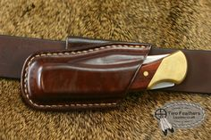 Folding Knife Sheath from Two Feathers Leathercraft.