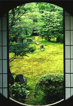 Sesshu Garden in Kyoto, Japan.  from www.pinup.jp