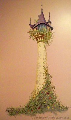 Joan Satow: Wall Murals Repunzels Tower