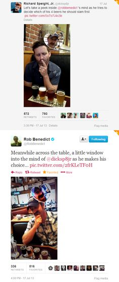 Richard Speight Jr. and Rob Benedict on Twitter