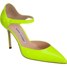 Imagine this highlighter-yellow shoe with your favorite navy pencil skirt and stripe tee for Spring.  Perfect!  Pull in more color with jewelry or a great vintage scarf.