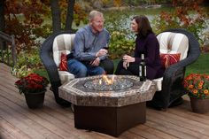 Gas Fire Pit Table Venetian Marble