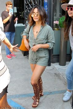 Changing it up: Vanessa Hudgens treated herself to a new hair colour in West Hollywood, California, on Wednesday