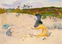thorsteinulf: Walter Bayes - On the Beach (1915)