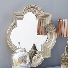 House of Hampton Platinum Gold Decorative Beveled Wall Mirror