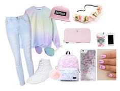 """Pink and purple"" by martineeikefjord on Polyvore featuring Glamorous, Vans, Skinnydip, RAJ and Serapian"