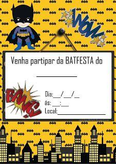 Kit Festa Batman Para Imprimir Grátis                                                                                                                                                                                 Mais