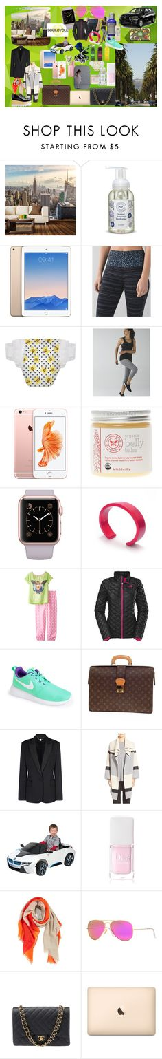 """""""target customer: metropolitan mom - concept board"""" by iamjodiemaxx on Polyvore featuring Walls Need Love, The Honest Company, lululemon, Alpine, Filip Vanas, The North Face, Kate Mack, NIKE, Louis Vuitton and BMW"""