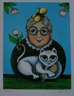 Nabídka děl - Srncová Emma | IKAROS Galerie Antik Cats, Pictures, Photos, Gatos, Kitty Cats, Photo Illustration, Cat Breeds, Kitty, Cat