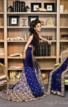 Pakistani Wedding Outfits, Pakistani Bridal, Punjabi Wedding, Blue Wedding Dresses, Bridal Dresses, Bridesmaid Dresses, Blue Weddings, Dresses Uk, Indian Dresses
