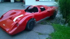 """Chevron B 16 Kit Car GFK The body is made of fiberglass """"NEW"""" and complete!  This was built on a steel structure.  Front and rear hood doors can be opened"""