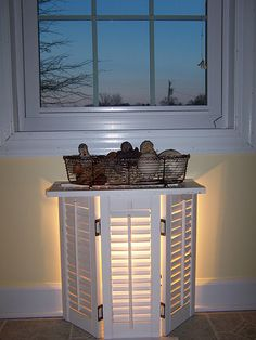 Ideas for decorating with shutters. I would love to do this on my patio.