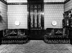 Pair of couches Aesthetic Movement style with Moorish style embroidery (Rockefeller Room)