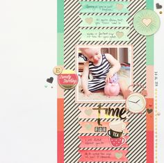{and scrapbooking classes with cupcakes.}: Five Ideas Using Shimelle Dies by Meghann Andrew Photo Layouts, Page Layout, Scrapbooking Layouts, Scrapbook Pages, Layout Inspiration, Scrapbooks, True Stories, Baby Kids, Paper Crafts