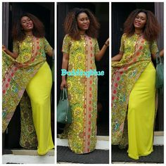 Chiffon 2 pc African Fashion Ankara, Latest African Fashion Dresses, African Print Fashion, Africa Fashion, African Dresses For Women, African Print Dresses, African Attire, African Women, Moda Afro
