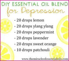 DIY Essential Oil Blend for Depression #EssentialOilBlends