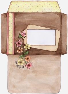 Sobres Florales para Imprimir Gratis.