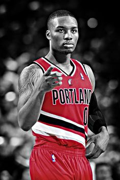 By Scoring 23 Points And Handing Out 11 Assists, Damian Lillard Joined Oscar Robertson And Isiah Thomas As The Only Players In NBA History With At Least 20 points & 10 assists In An NBA Debut.- Talk about an Amazing Debut for Lillard! Basketball Leagues, Basketball Legends, Basketball Players, Sports Teams, Basketball Art, Damian Lillard, Basketball Pictures, Love And Basketball, The Sporting Life