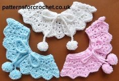 Free baby crochet pattern for pretty collar http://www.patternsforcrochet.co.uk/pretty-collar-usa.html #patternsforcrochet