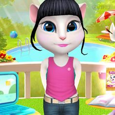 The new Gold Run outfit is waiting for you in the latest My Talking Angela app update. Talking Tom 2, Funny Tom, Big Star, My World, Hanging Out, Toms, Kawaii, Hack Online, Party