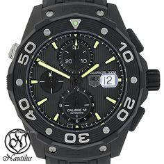 TAG Heuer Aquaracer 500M ad: $2,910 TAG Heuer Aquaracer Chronograph Full Black…