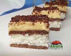 Czech Desserts, Romanian Desserts, Bueno Cake, Cake Recipes, Dessert Recipes, French Pastries, Food Cakes, Dessert Bars, Cake Cookies