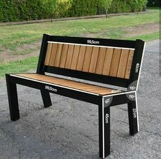 Decking scraps sculpted into industrial steel and wood bench – Salvabrani – Diy Furniture Ideas