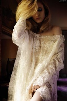 lace - the quickest way to make a woman feel beautiful and intimate!  ~  and for a man to take notice!