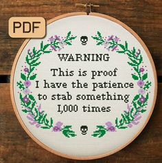 Embroidery Hoop Art, Cross Stitch Embroidery, Embroidery Patterns, Funny Embroidery, Funny Cross Stitch Patterns, Cross Stitch Designs, Art Minecraft, Minecraft Funny, Minecraft Crafts