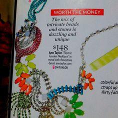 Ann Taylor's electric garden necklace.