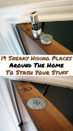 19 Sneaky Hiding Places Around The Home To Stash Your Stuff - Not only is it good in case you get robbed but if SHTF really does hit the fan and you are bugging in, you will be the only one that knows where your guns are or your secret stash of medicine. Hidden Spaces, Hidden Rooms, Secret Storage, Hidden Storage, Secret Space, The Secret, Stash Spots, Secret Hiding Places, Hidden Gun
