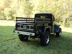 "1951 Willys Truck - Photo submitted by Edwin Caudill. Love the rails on the side. It seems more ""finished"". Jeep Willys, Willys Wagon, Jeep Pickup, Jeep Truck, Chevy Trucks, Farm Trucks, Cool Trucks, Old Jeep, Classic Pickup Trucks"