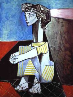 1954 Pablo Picasso () Jacqueline with Crossed Hands.