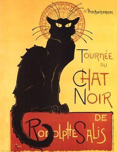 Framed Tournee Du Chat Noir Print