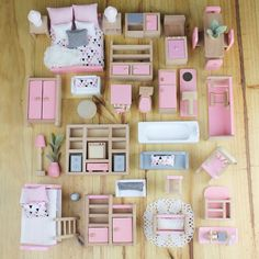 icu ~ Pin on Barbie ~ Kids Doll Houses Wooden Furniture Miniatura DIY Doll House Girls Living Room Decor Craft Toys Puzzle Birthday Gift Kids Doll House, Doll House Plans, Doll House Crafts, Barbie Doll House, Doll Houses, Doll House Beds, Barbie House Furniture, Doll Furniture, Dollhouse Furniture