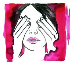 "Purchase prints of ""See No Evil"" by Jasleni Greeting Cards, Watercolor, Wall Art, Portrait, Prints, Painting, Fictional Characters, Watercolour"