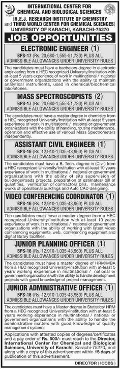 Jobs University of Karachi | Jobs in Pakistan for you