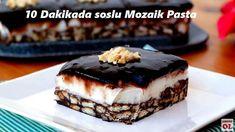 Kısa zaman harcayarak, 10 dakikada soslu mozaik pastayı sizlerde hazırlayabilirsiniz. Kolaylığı ile bilinen mozaik pastayı birde böyle muhallebili Turkish Recipes, Ethnic Recipes, Pasta Cake, Pasta Recipes, Chocolate Cake, Tiramisu, Cheesecake, Muffin, Turkey