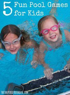 5 Fun pool games to teach your kids to play at the pool while you sit back and enjoy! #poolgamesforkids #waterplay #childdevelopment