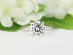 3 carat Round cut Solitaire Ring, Engagement Ring, White Gold Ring, Promise ring , valentine Gift, Birthday Gifts, Moissanite Ring, CZ rings White Gold Wedding Bands, White Gold Rings, Round Solitaire Rings, Moissanite Rings, Bridal Rings, Solitaire Engagement, Unique Rings, 3 Carat, Birthday Gifts